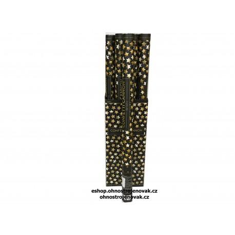 KONFETY ZLATÉ HVĚZDIČKY metalické 80cm