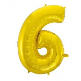 Balón foliový číslice 115 cm - 6/9