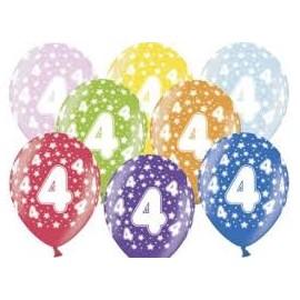 Silné Balónky 30cm metalické mix - Birthday No.4