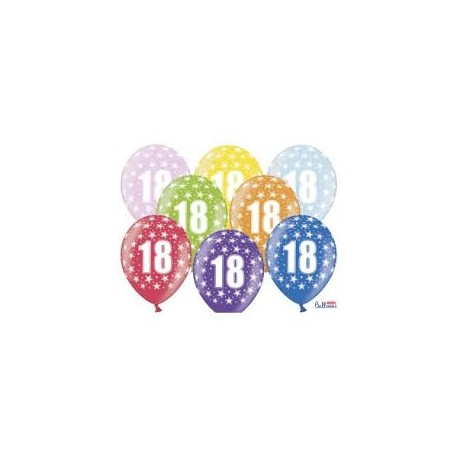 Silné Balónky 30cm metalické mix - Birthday No.18