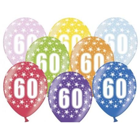Silné Balónky 30cm metalické mix - Birthday No.60