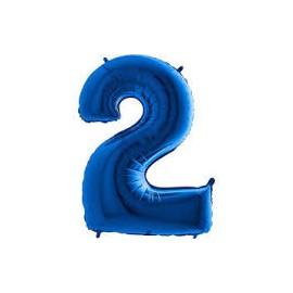 Balón foliový číslice MODRÁ - BLUE 115 cm - 2