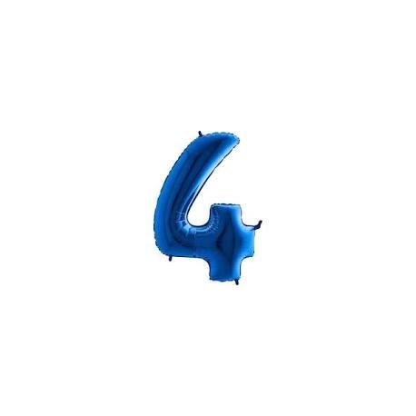 Balón foliový číslice MODRÁ - BLUE 115 cm - 4