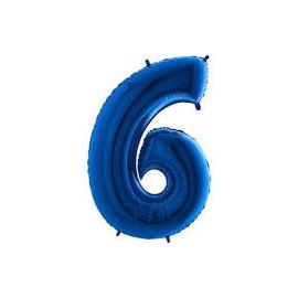 Balón foliový číslice MODRÁ - BLUE 115 cm - 6