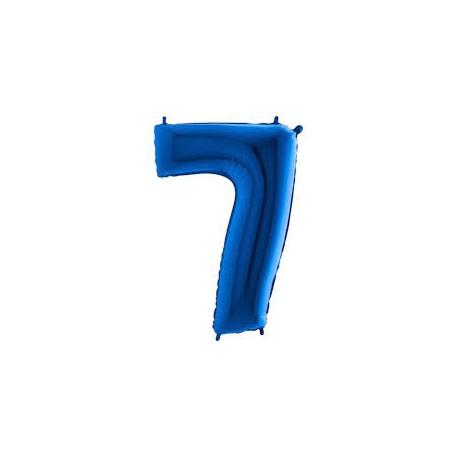 Balón foliový číslice MODRÁ - BLUE 115 cm - 7