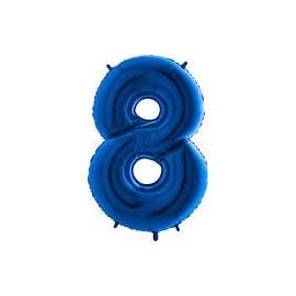 Balón foliový číslice MODRÁ - BLUE 115 cm - 8