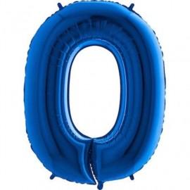 Balón foliový číslice MODRÁ 115 cm - 0