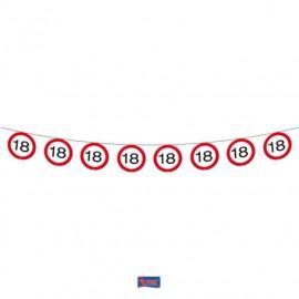 Girlanda dopravní značka 18, 12m