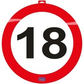 Dekorace dopravní značka 18, 47cm