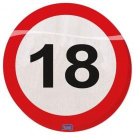 Ubrousky dopravní značka 18, 33x33cm 20ks/bal.