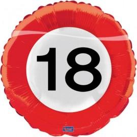 Balón foliový dopravní značka 18 , 43cm