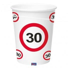 Kelímky dopravní značka 30, 350ml 8ks/bal.