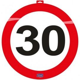 Dekorace dopravní značka 30, 47cm