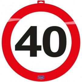 Dekorace dopravní značka 40, 47cm