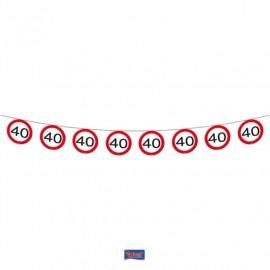 Girlanda dopravní značka 40, 12m