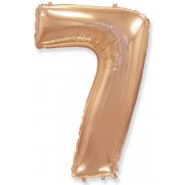 Balón foliový číslice RŮŽOVO ZLATÁ - ROSE GOLD 115 cm - 7