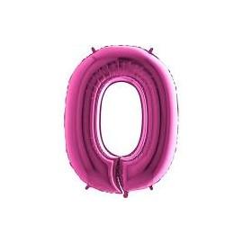 Balón foliový číslice RŮŽOVÁ - PINK 115 cm - 0