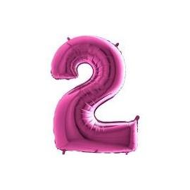 Balón foliový číslice RŮŽOVÁ - PINK 115 cm - 2