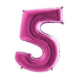 Balón foliový číslice RŮŽOVÁ - PINK 115 cm - 5