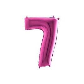 Balón foliový číslice RŮŽOVÁ - PINK 115 cm - 7