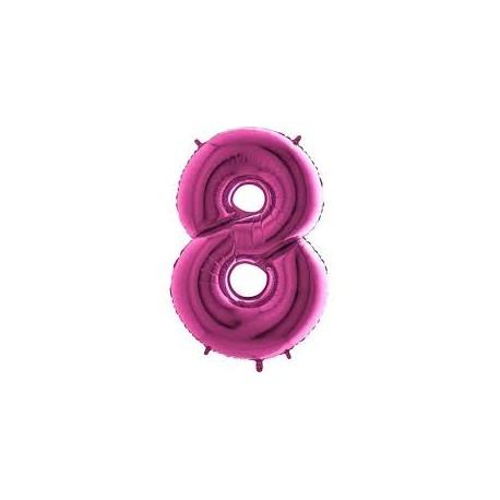 Balón foliový číslice RŮŽOVÁ - PINK 115 cm - 8