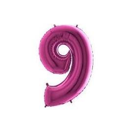 Balón foliový číslice RŮŽOVÁ - PINK 115 cm - 9